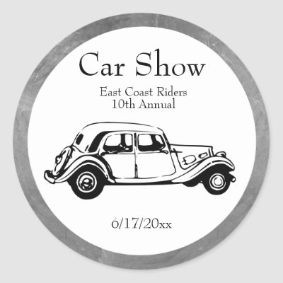 Car Show Stickers Double Line Customize