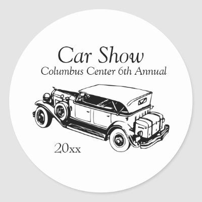 Classic Car Show Stickers Customize