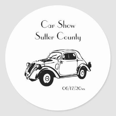 Classic Car Stickers Customize