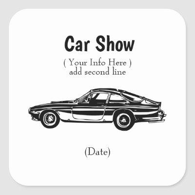 Custom Classic Car Stickers