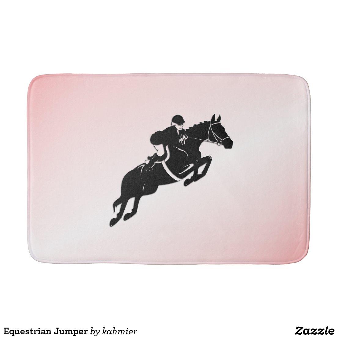 Equestrian Jumper Bath Mat
