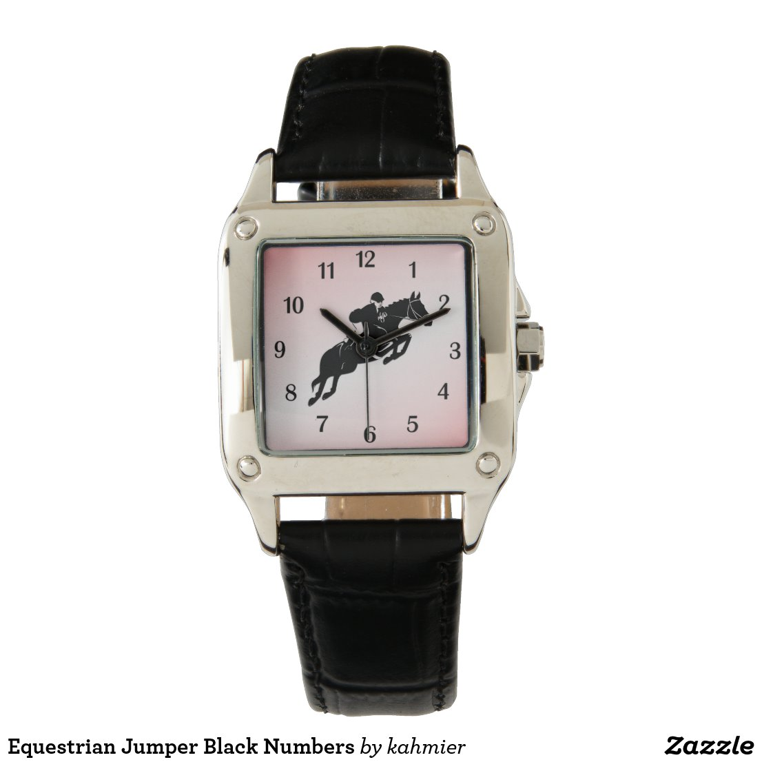 Equestrian Jumper Black Numbers Watch