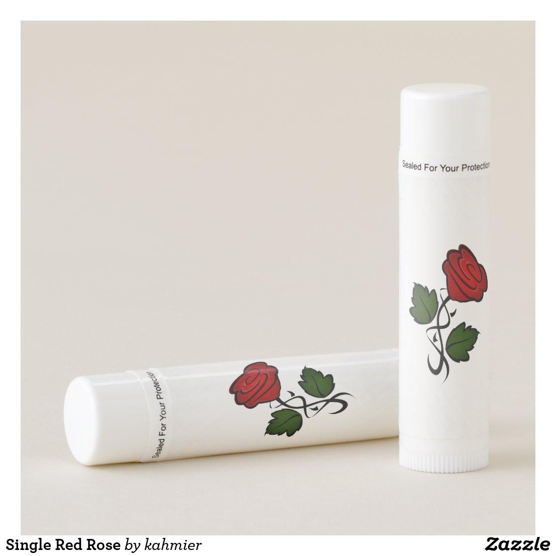 Single Red Rose Lip Balm