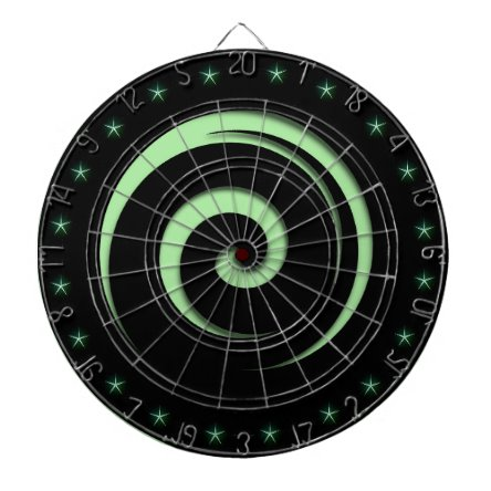 Spiral Hypnotic Green Regulation Dart Board