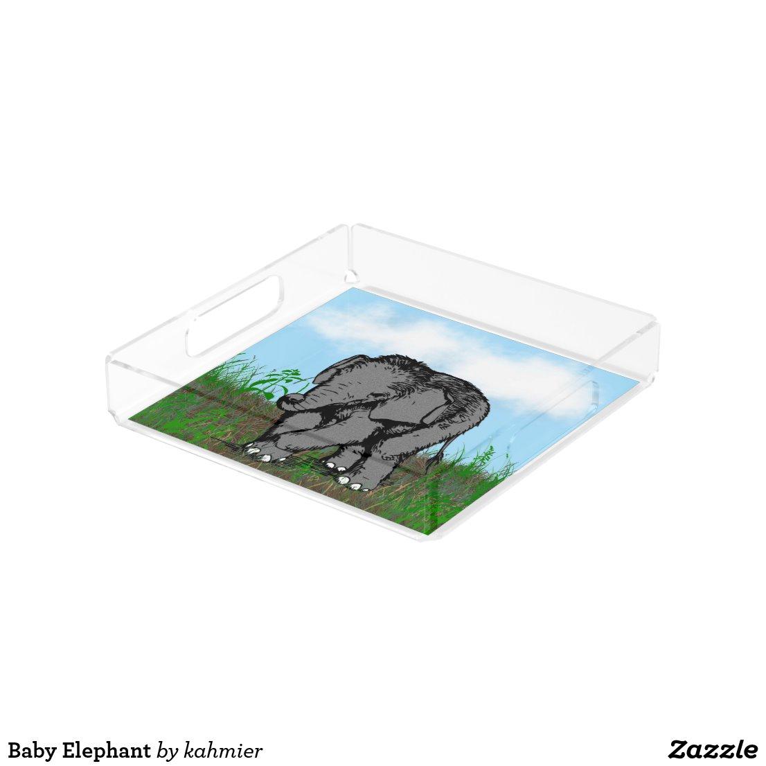 Baby Elephant Acrylic Tray