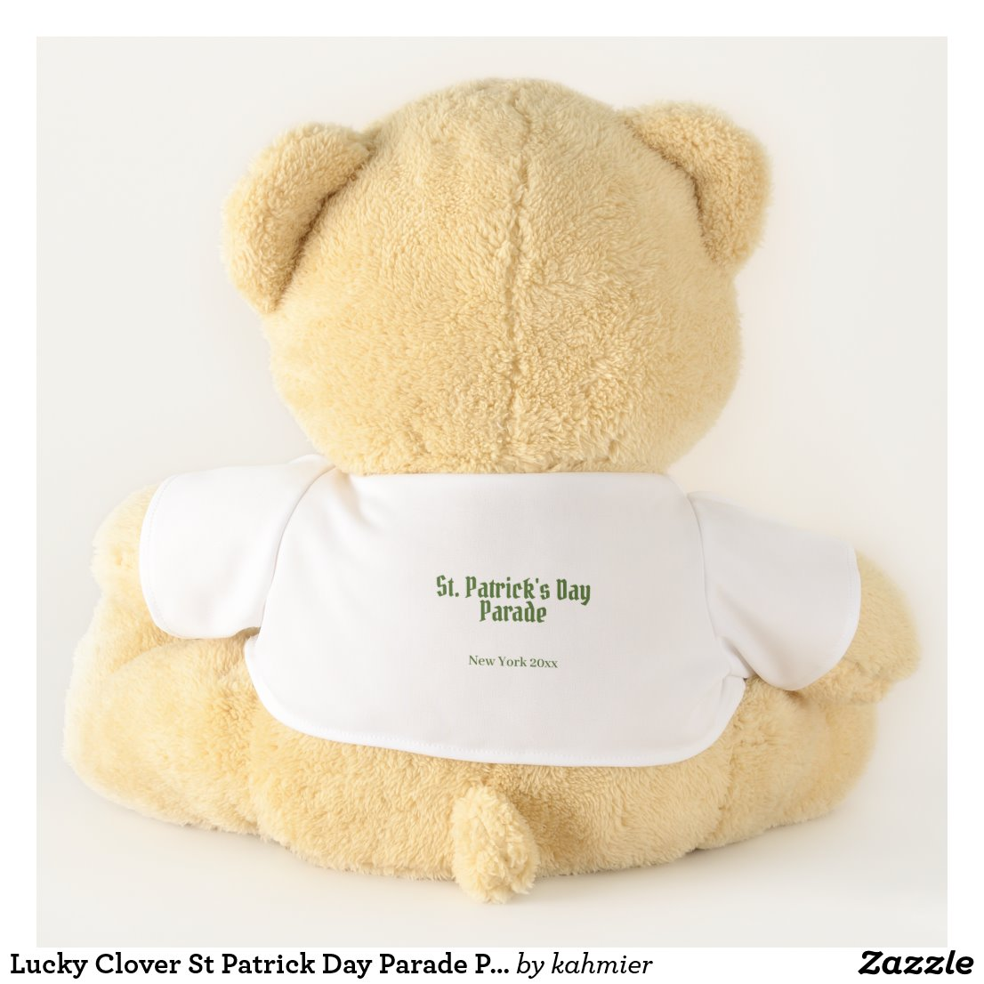 Lucky Clover St Patrick Day Parade Place and Date Teddy Bear