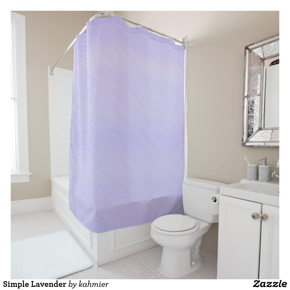 Simple Lavender Shower Curtain