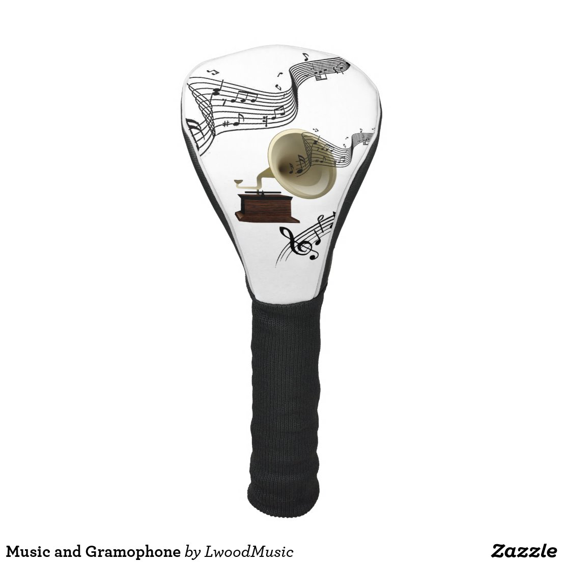 Music and Gramophone Golf Head Cover