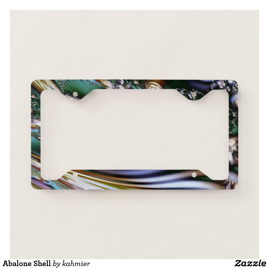 Abalone Shell License Plate Frame