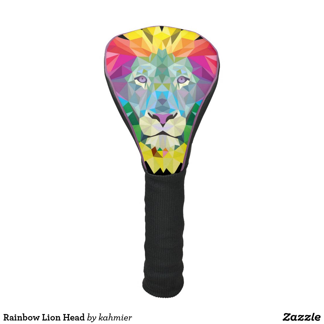 Rainbow Lion Head Golf Head Cover