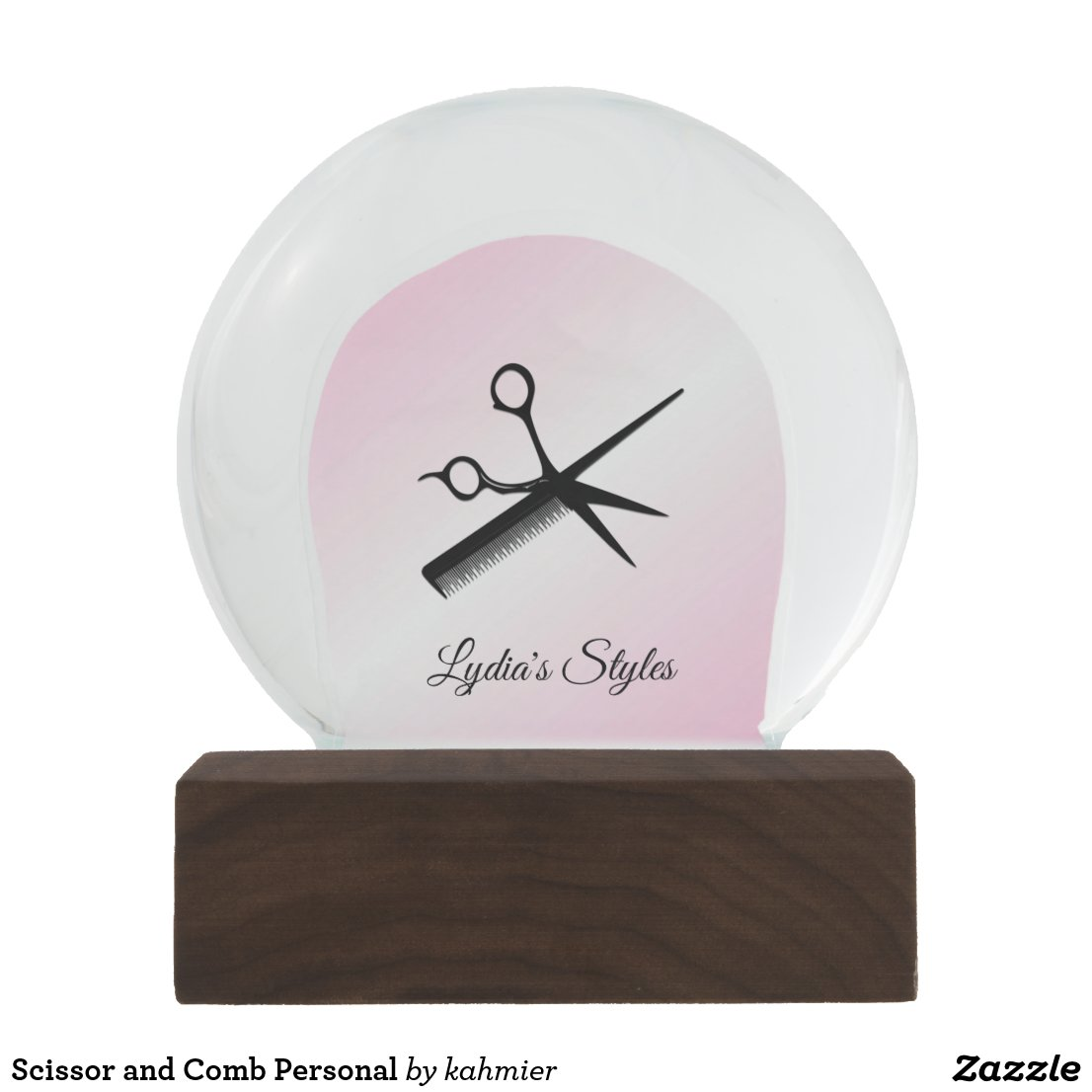 Scissor and Comb Personal Snow Globe
