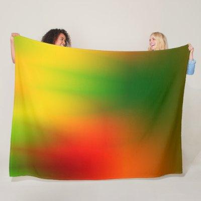 Splash of Rasta Color Fleece Blanket