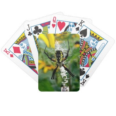 Yellow Spider Bicycle Playing Cards