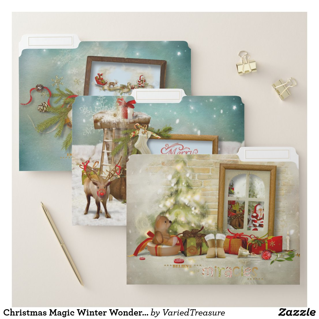 Christmas Magic Winter Wonderland File Folder