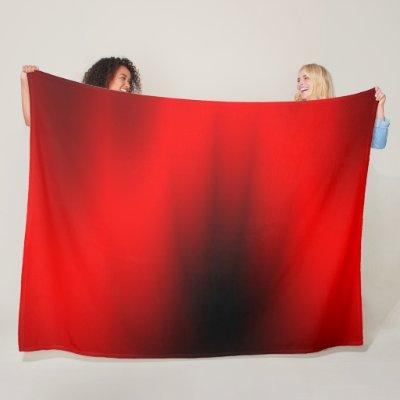 Regal Red Splash Fleece Blanket